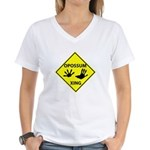 Opossum Crossing Women's V-Neck T-Shirt