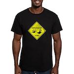 Opossum Crossing Men's Fitted T-Shirt (dark)