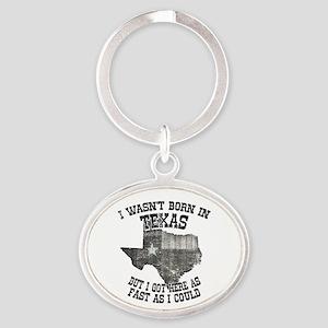 Texas Oval Keychain