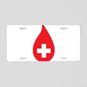 Donate Blood Aluminum License Plate