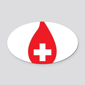 Donate Blood Oval Car Magnet