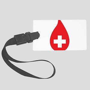 Donate Blood Large Luggage Tag