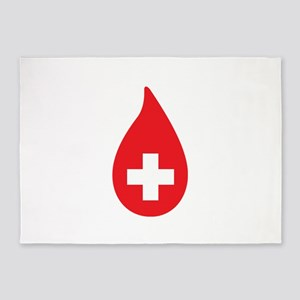 Donate Blood 5'x7'Area Rug