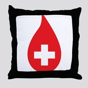 Donate Blood Throw Pillow