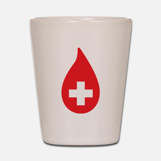 Donate Blood Shot Glass