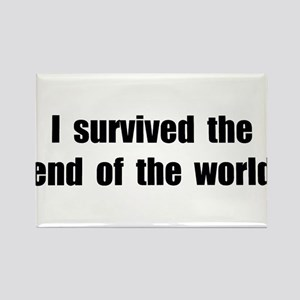 I Survived The End Of The World (II) Rectangle Mag