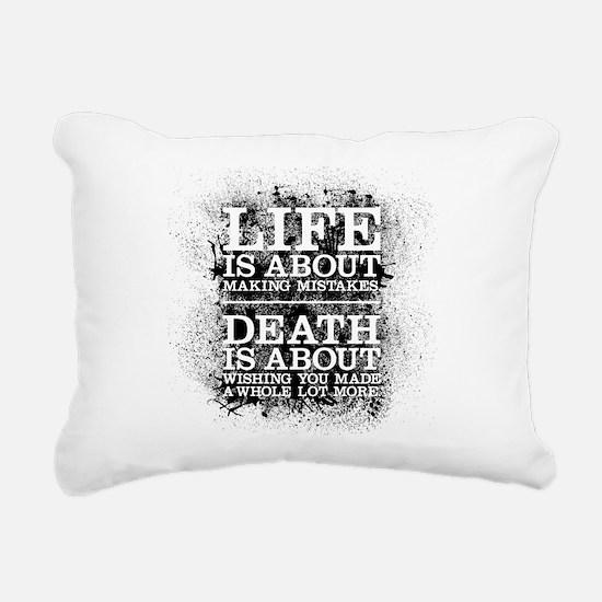 Life and Death Rectangular Canvas Pillow