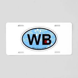 Wells Beach ME - Oval Design. Aluminum License Pla