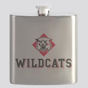 Davidson Wildcats Mascot Head Flask