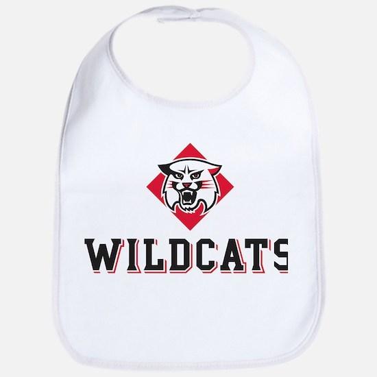 Davidson Wildcats Mascot Head Cotton Baby Bib