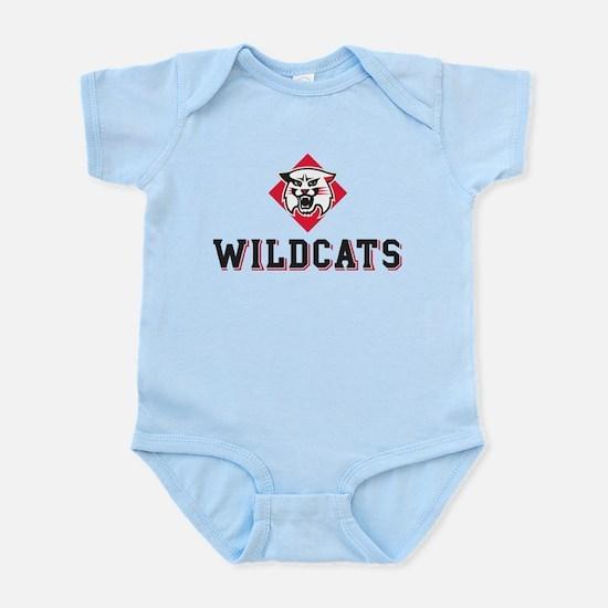 Davidson Wildcats Mascot Head Infant Bodysuit