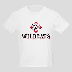 Davidson Wildcats Mascot Head Kids Light T-Shirt