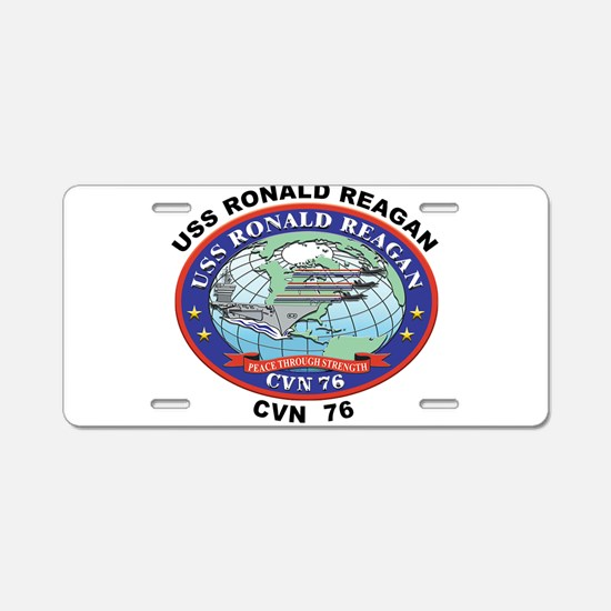 CVN 76 USS Ronald Reagan Aluminum License Plate