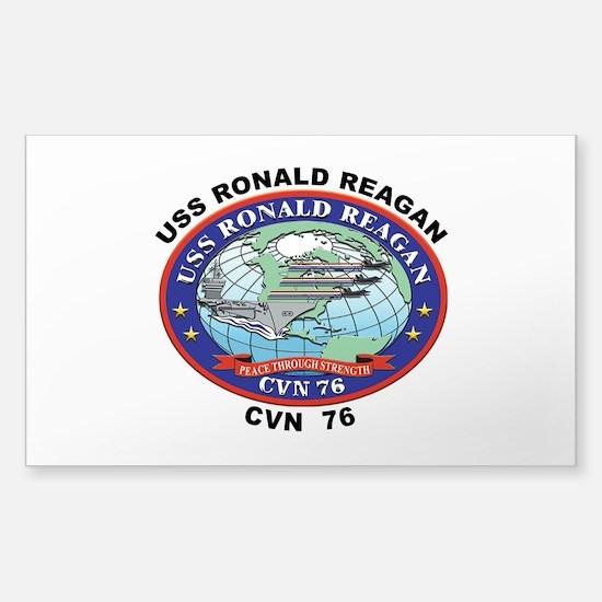 CVN 76 USS Ronald Reagan Sticker (Rectangle 10 pk)