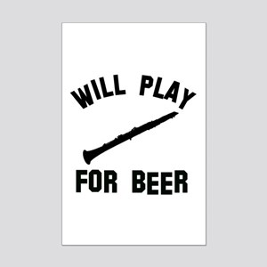Will play the Oboe for beer Mini Poster Print