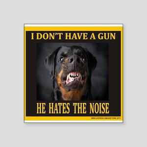 "My Dog Square Sticker 3"" x 3"""