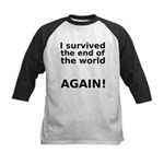I survived . . . AGAIN! Kids Baseball Jersey
