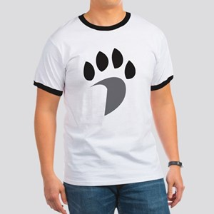 Davidson Mascot PawPrint Grey Black Ringer T
