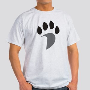 Davidson Mascot PawPrint Grey Black Light T-Shirt