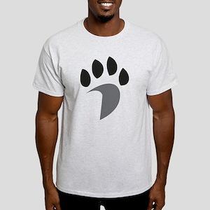 Davidson Mascot PawPrint Grey Black Light T-Shirt