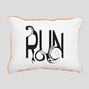 Unique RUN Rectangular Canvas Pillow