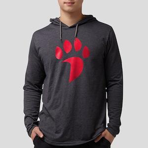 Davidson Wildcat PawPrint Red Mens Hooded Shirt