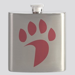Davidson Wildcat PawPrint Red Flask