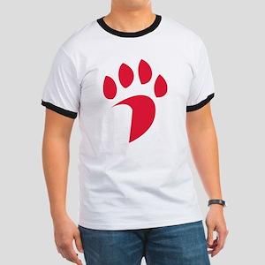 Davidson Wildcat PawPrint Red Ringer T