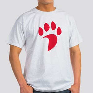 Davidson Wildcat PawPrint Red Light T-Shirt