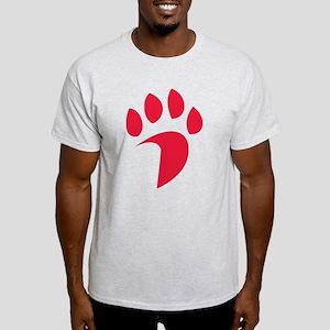 Davidson Wildcat PawPrint Red Light T-Shirt