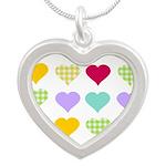 Rainbow Hearts Silver Heart Necklace