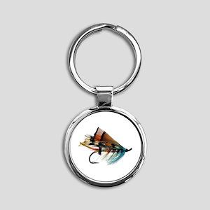 fly 2 Round Keychain
