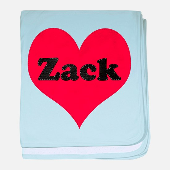 Zack Leather Heart baby blanket