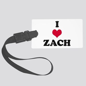 I Love Zach Large Luggage Tag