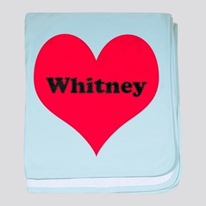Whitney Leather Heart baby blanket