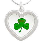 Sexy Irish Granny Silver Heart Necklace