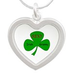Sexy Irish Granny Silver Heart Necklace