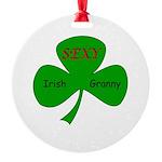 Sexy Irish Granny Round Ornament