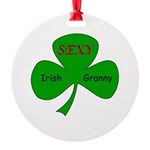 Sexy Irish Granny Round Ornament