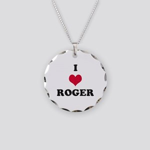 I Love Roger Necklace Circle Charm
