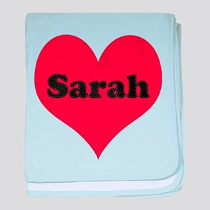 Sarah Leather Heart baby blanket