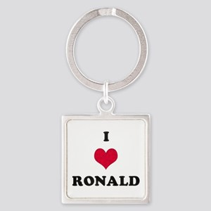 I Love Ronald Square Keychain