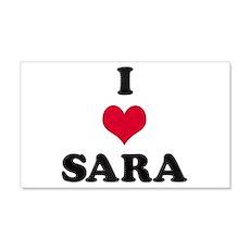 I Love Sara 22x14 Wall Peel