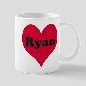 Ryan Leather Heart Mug
