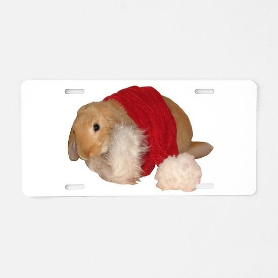 xmas bunny 1 Aluminum License Plate