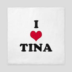I Love Tina Queen Duvet