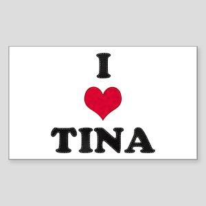 I Love Tina Rectangle Sticker