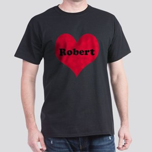 Robert Leather Heart Dark T-Shirt