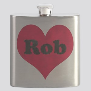 Rob Leather Heart Flask