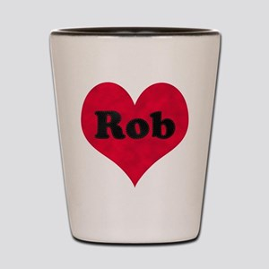 Rob Leather Heart Shot Glass